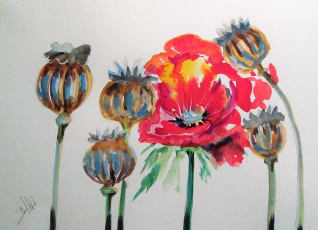 Art: Poppies No. 11 by Artist Delilah Smith