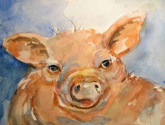 Art: Little Pig No. 2 by Artist Delilah Smith