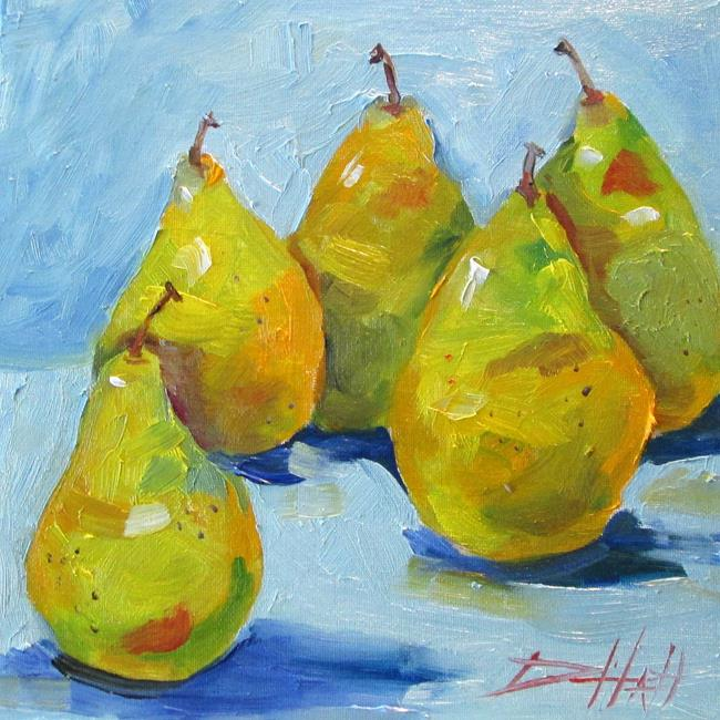 Art: Five Pears by Artist Delilah Smith