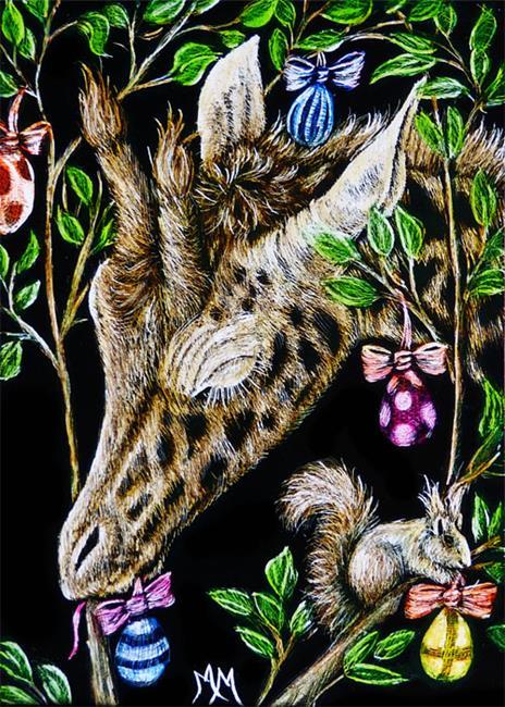 Art: Easter Egg Tree  (SOLD) by Artist Monique Morin Matson