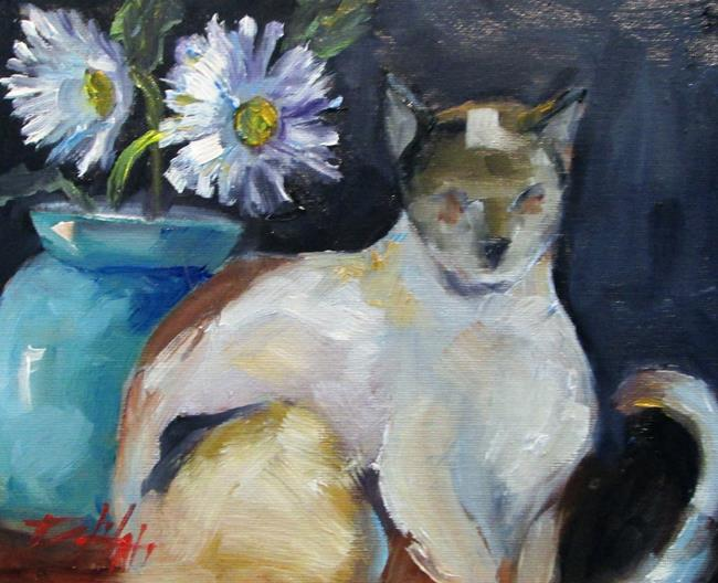 Art: Siamese Cat No. 2 by Artist Delilah Smith
