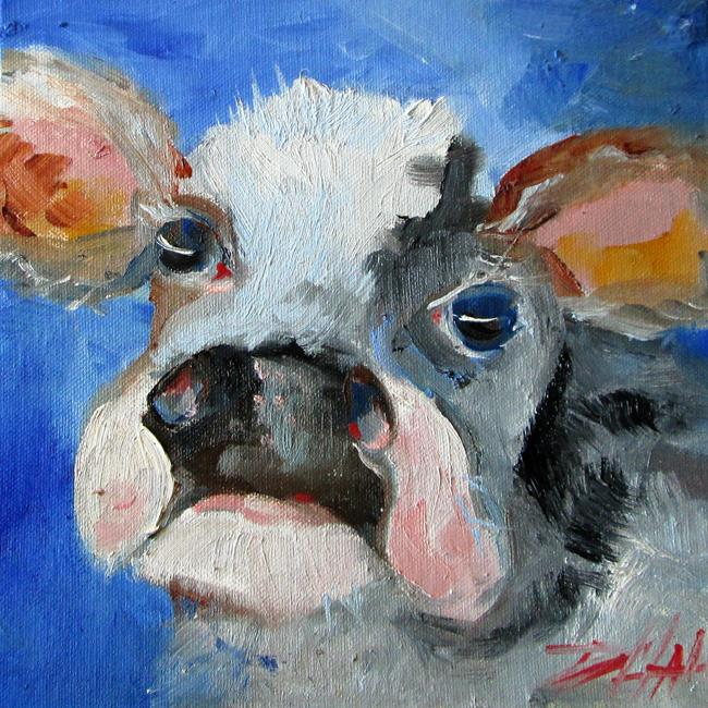 Art: Cow by Artist Delilah Smith