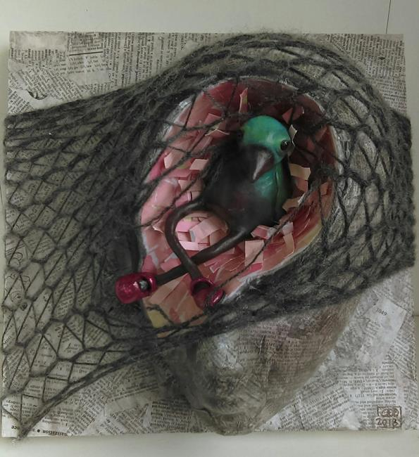 Art: Bird Brain by Artist Cary Dunlap Daly