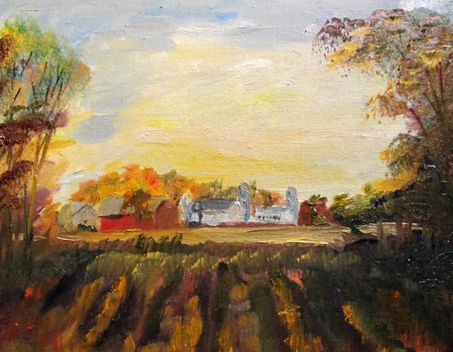 Art: Midwestern Farm by Artist Delilah Smith