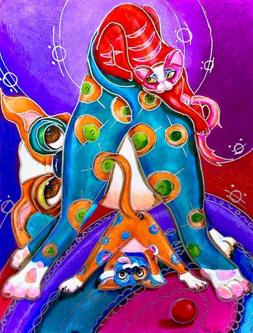 Art: doggie see doggie doo by Artist Alma Lee