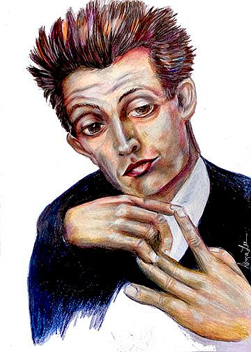 Art: Egon Scheilde by Artist Alma Lee