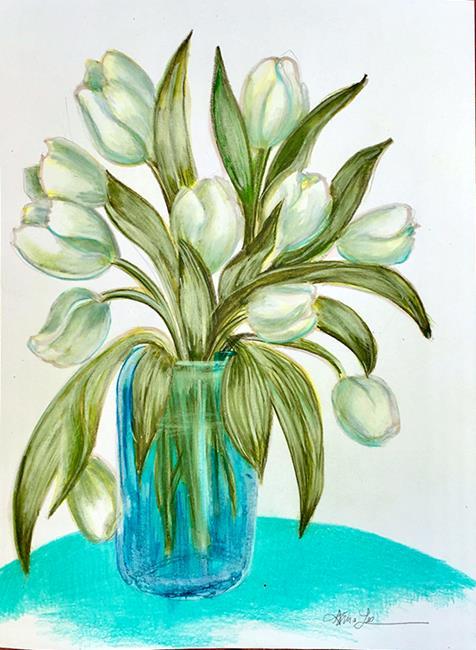 Art: Glowing Tulips by Artist Alma Lee