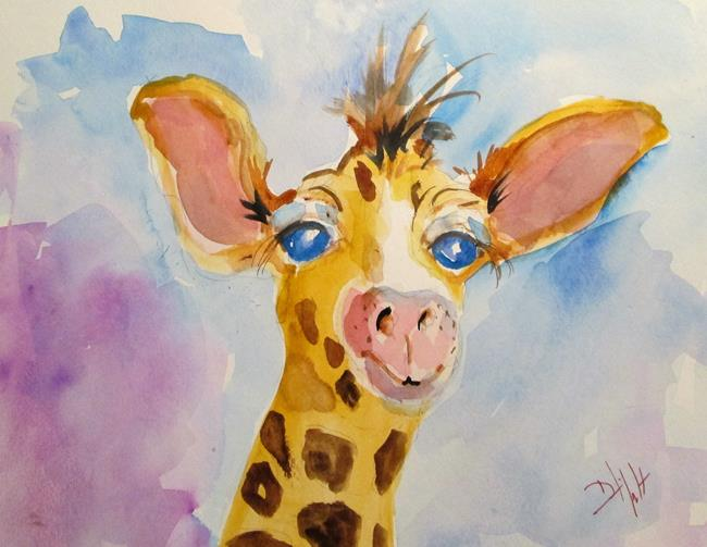 Art: Baby Giraffe by Artist Delilah Smith