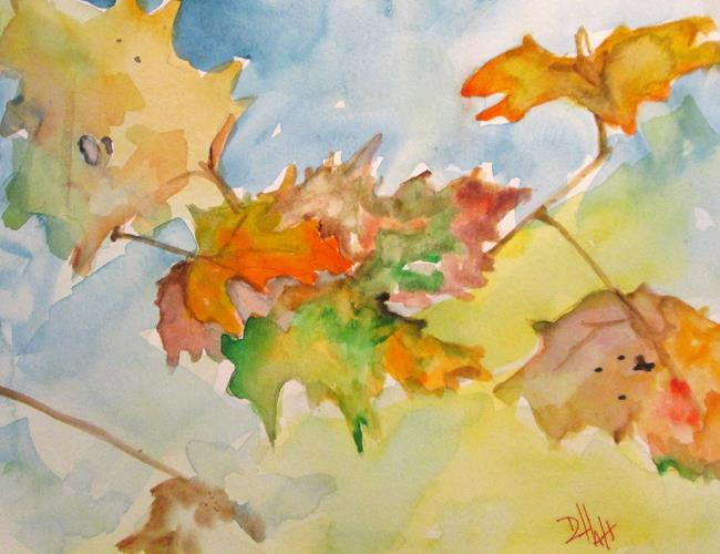 Art: Fall Leaves No.2 by Artist Delilah Smith