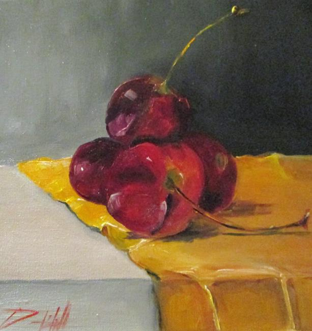 Art: Cherry Still Life by Artist Delilah Smith