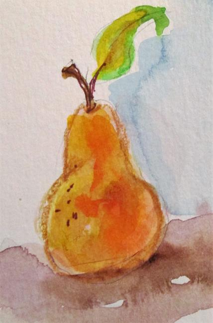 Art: Yellow Pear by Artist Delilah Smith