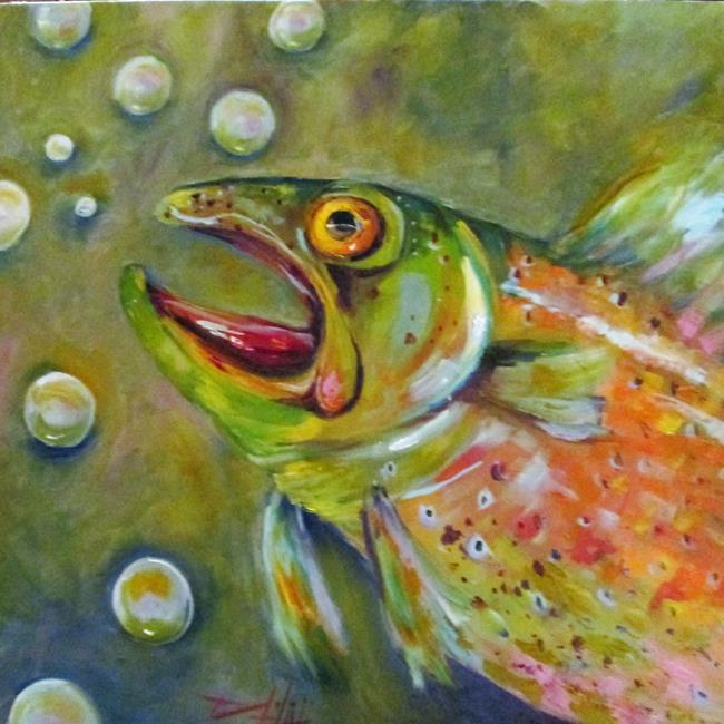 Art: Trout No. 9 by Artist Delilah Smith