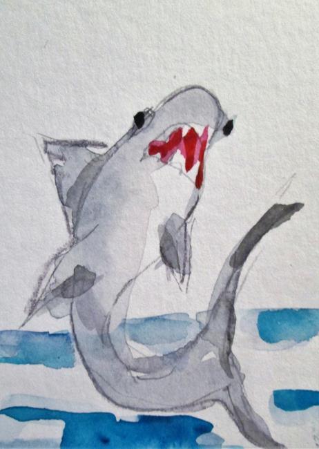Art: Shark by Artist Delilah Smith