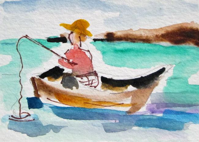 Art: Fishing by Artist Delilah Smith