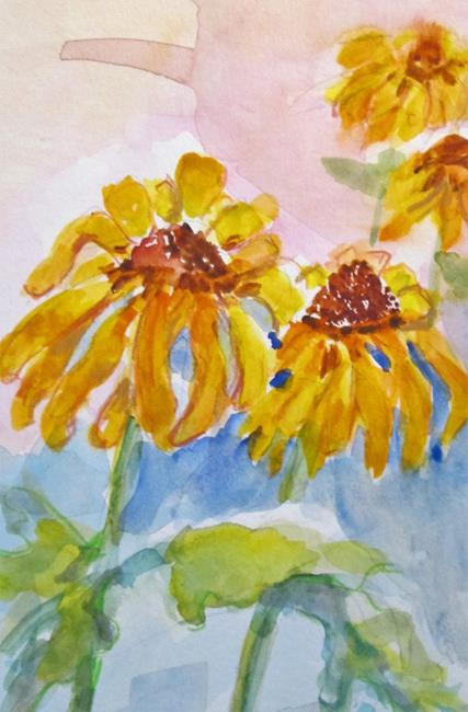 Art: Happy Yellow Flowers by Artist Delilah Smith