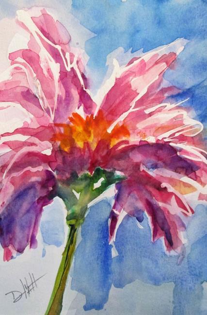 Art: Purple Flower by Artist Delilah Smith