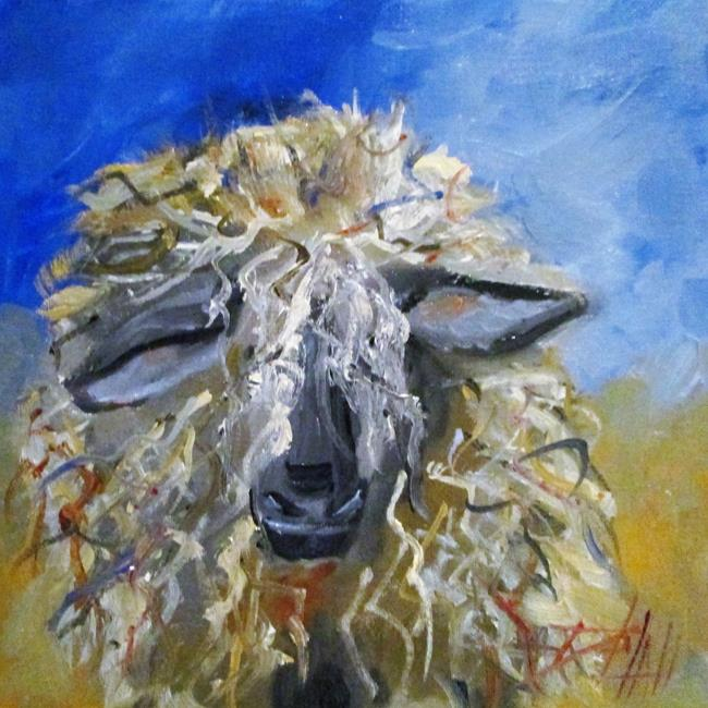 Art: Fuzzy Sheep-sold by Artist Delilah Smith