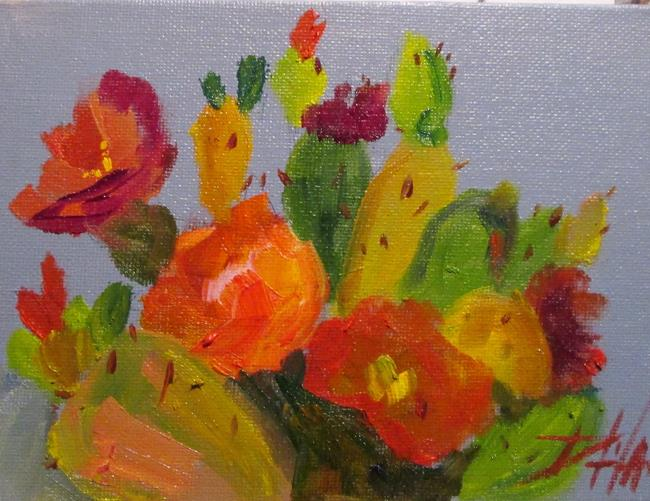 Art: Cactus Flower by Artist Delilah Smith