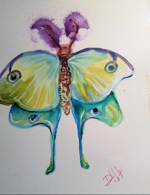 Art: Moth by Artist Delilah Smith