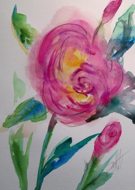 Art: Pink Roses by Artist Delilah Smith