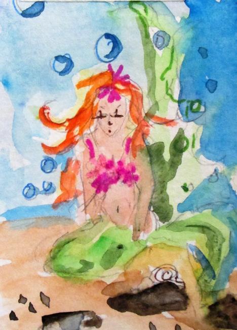 Art: Little Mermaid by Artist Delilah Smith