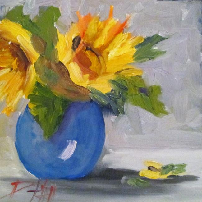Art: Still Life with Yellow Flowers by Artist Delilah Smith