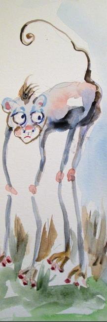 Art: Long Legged Monkey by Artist Delilah Smith