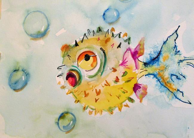 Art: Blow Fish by Artist Delilah Smith
