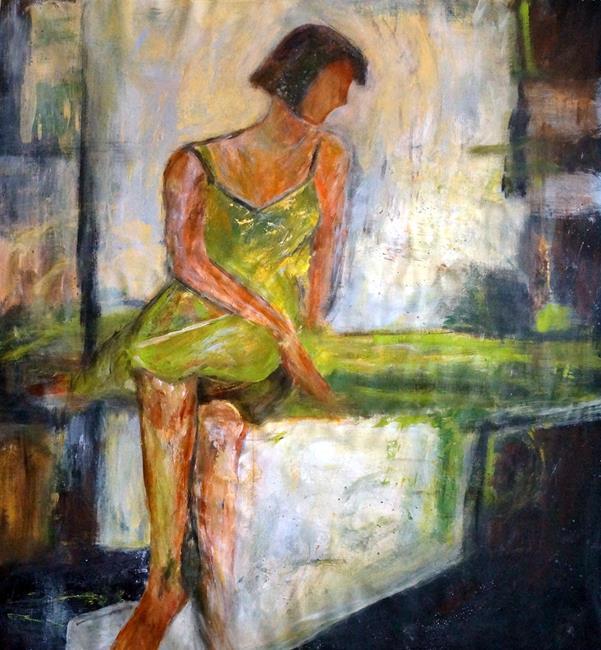 Art: The Green Dress by Artist LUIZA VIZOLI
