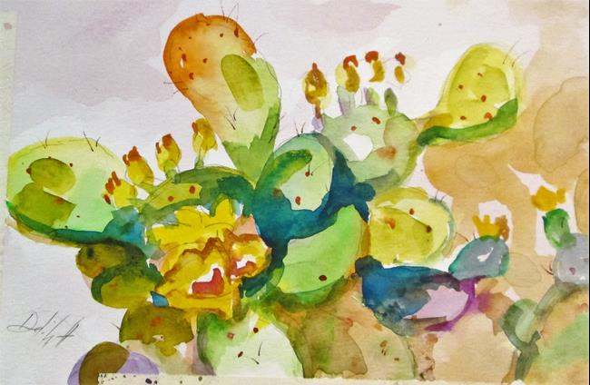 Art: Prickly Pear Cactus by Artist Delilah Smith