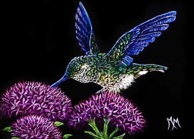Art: Hummingbird - SA239 by Artist Monique Morin Matson