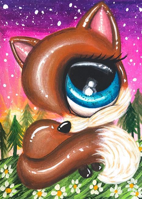 Art: Fox forest by Artist Luna Jordyn