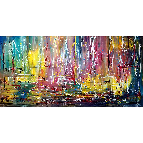 Art: Boats at Sunset by Artist LUIZA VIZOLI