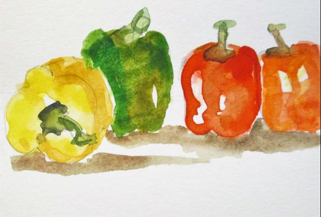 Art: Peppers by Artist Delilah Smith