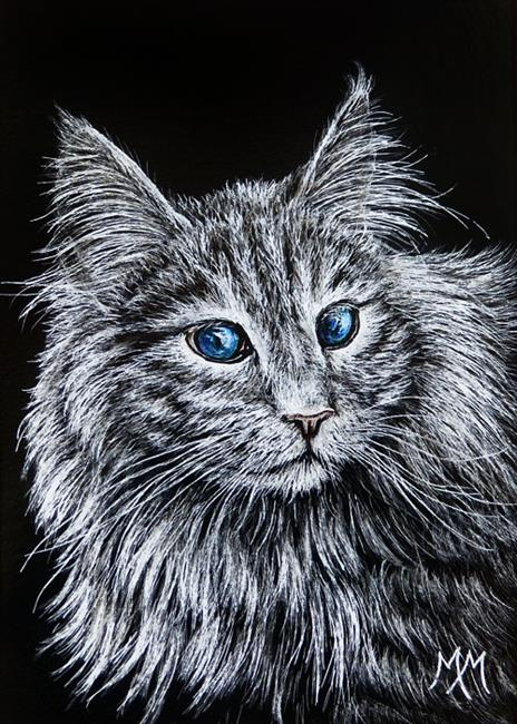Art: Maine Coon  (SOLD) by Artist Monique Morin Matson