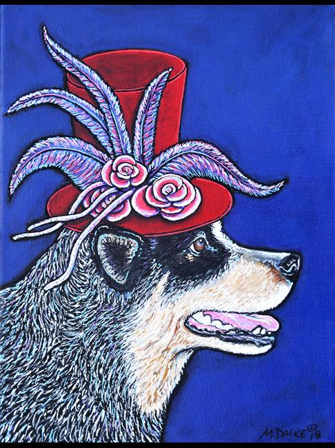 Art: Red-Hatter Heeler by Artist Melinda Dalke