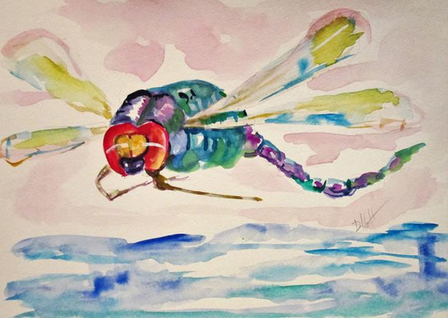 Art: Spring Dragonfly by Artist Delilah Smith