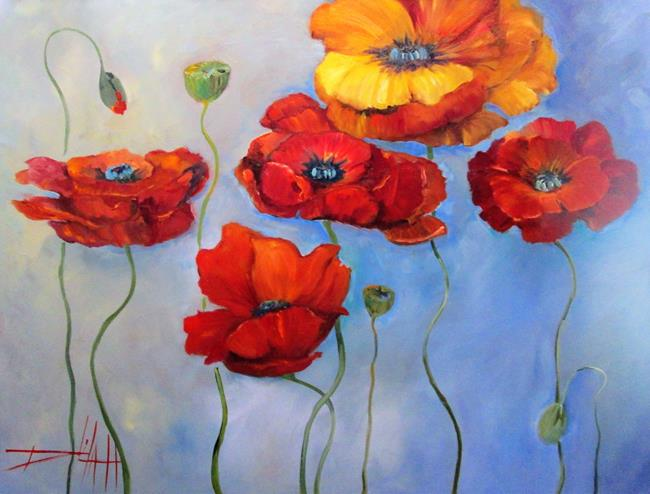 Art: Song of Poppies by Artist Delilah Smith