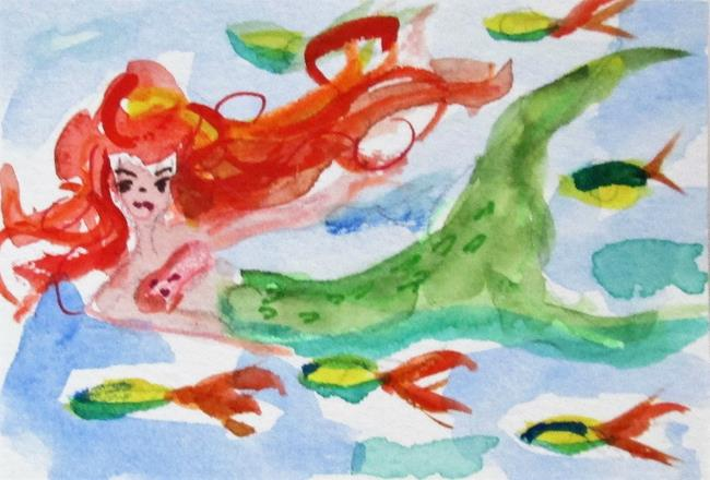 Art: Swimming with the Fish by Artist Delilah Smith