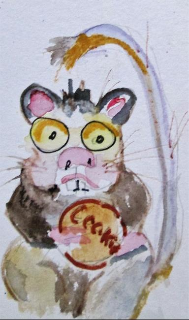 Art: Mouse and Cookie by Artist Delilah Smith
