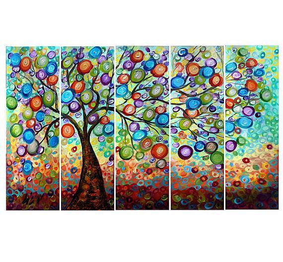 Art: OLIVE TREE  RAIN by Artist LUIZA VIZOLI