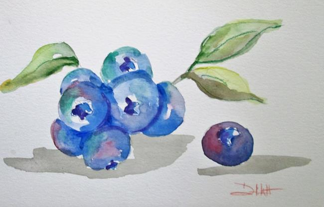 Art: Bunch of Blueberries by Artist Delilah Smith