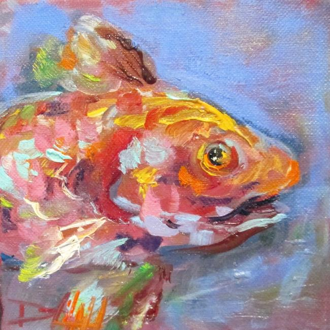 Art: Red Fish by Artist Delilah Smith