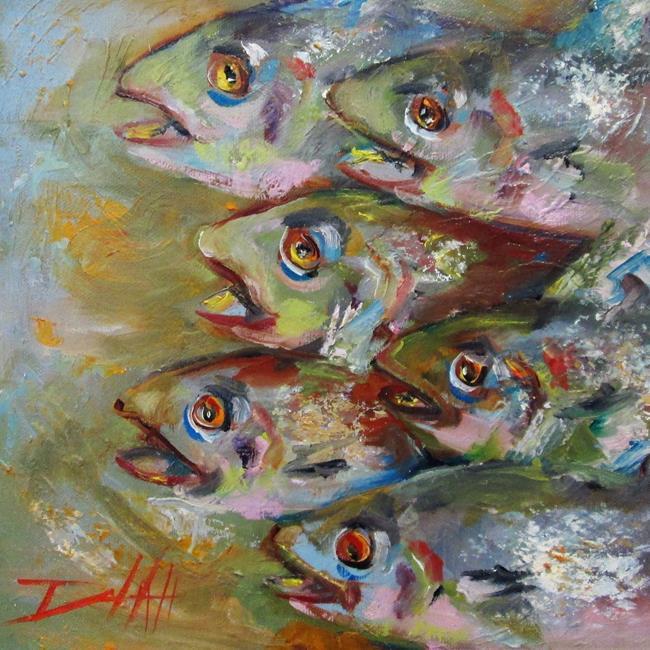Art: Friday Night Fish by Artist Delilah Smith