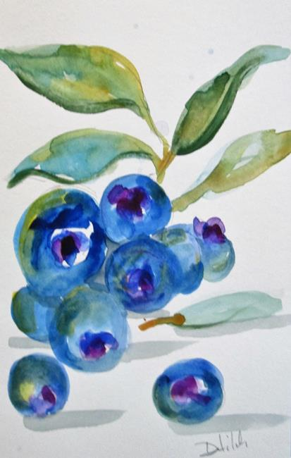 Art: Blueberries No. 5 by Artist Delilah Smith