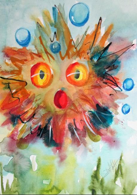 Art: Blow Fish No. 3 by Artist Delilah Smith