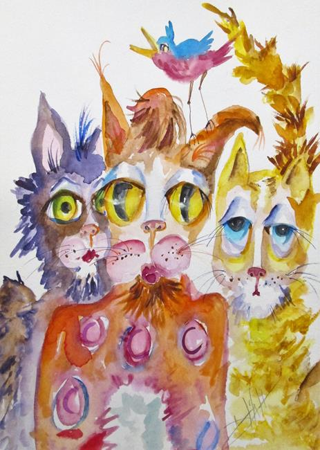 Art: Jazz Cats No. 2 by Artist Delilah Smith
