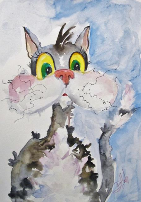 Art: Chubby Cheek Cat by Artist Delilah Smith
