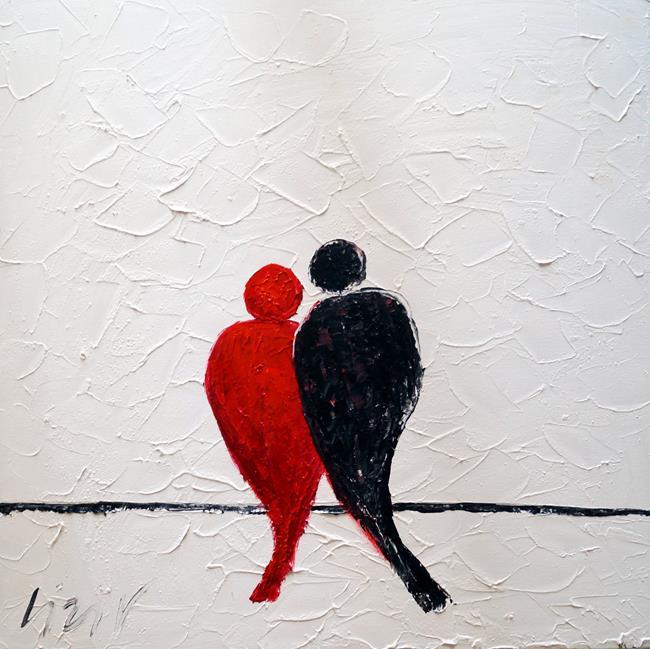 Art: LOVE BIRDS by Artist LUIZA VIZOLI