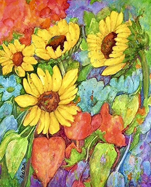 Art: Sunflower Medley - sold by Artist Ulrike 'Ricky' Martin